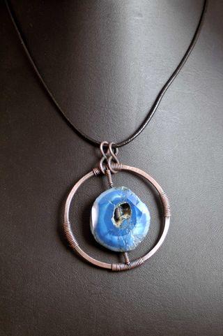 Copper blue geode_sm