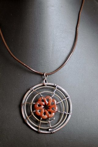 African copper nickel serpentine pendant_sm