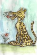 Licking leopard_sm